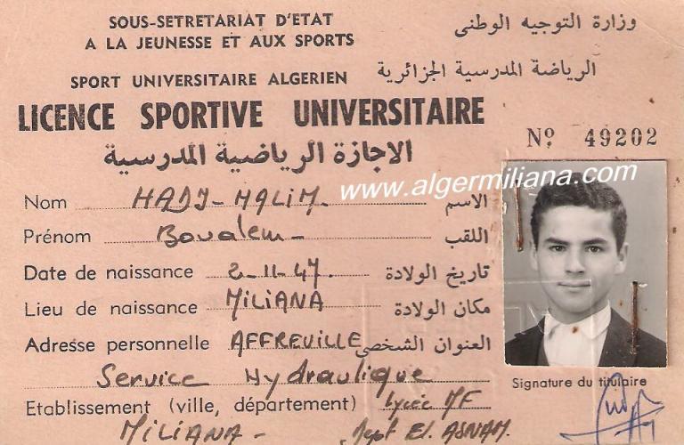 HADJ-HALIM  Boualem