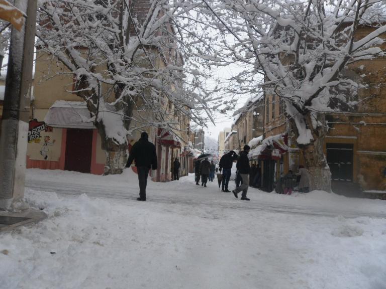 La rue Saint-Paul enneigée