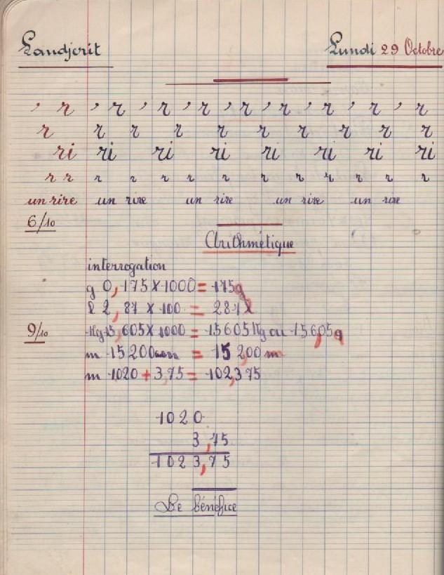 Cahier de roulement