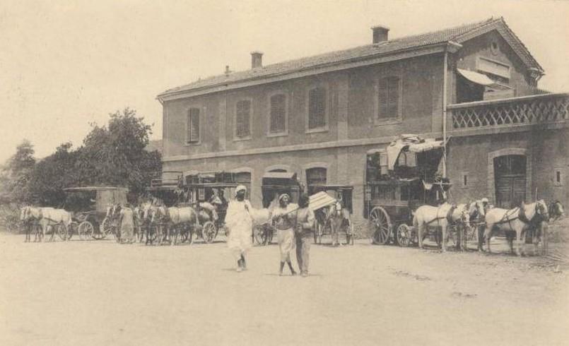 Affreville arrivee train a la gare