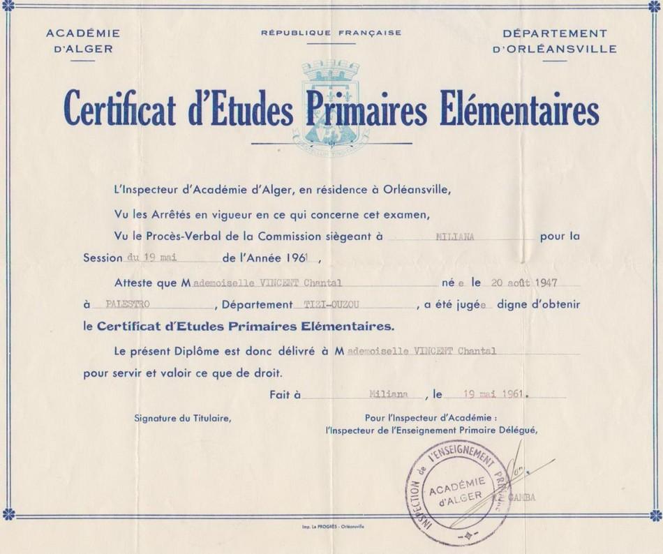 Certificat d'études primaires élémentaires