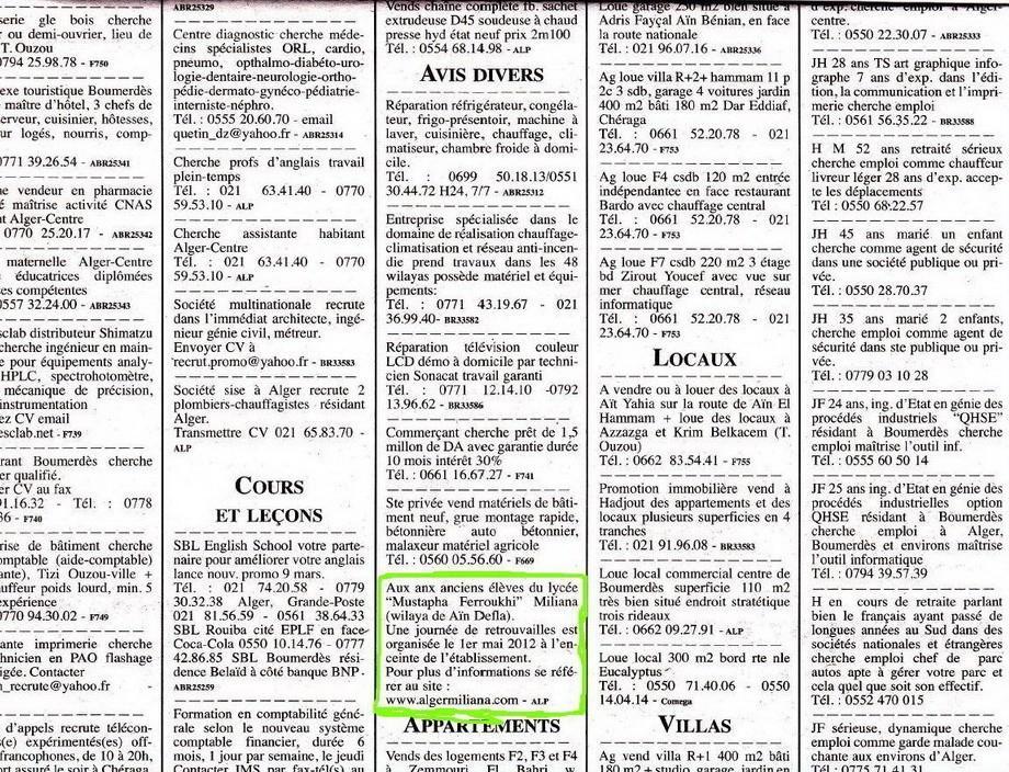 Journal Liberté / Dimanche 04 Mars 2012