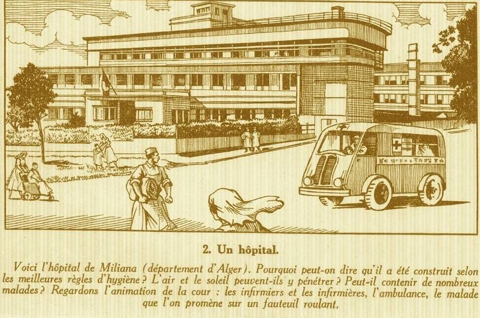 Photo extraite d'un livre de classe des années 50
