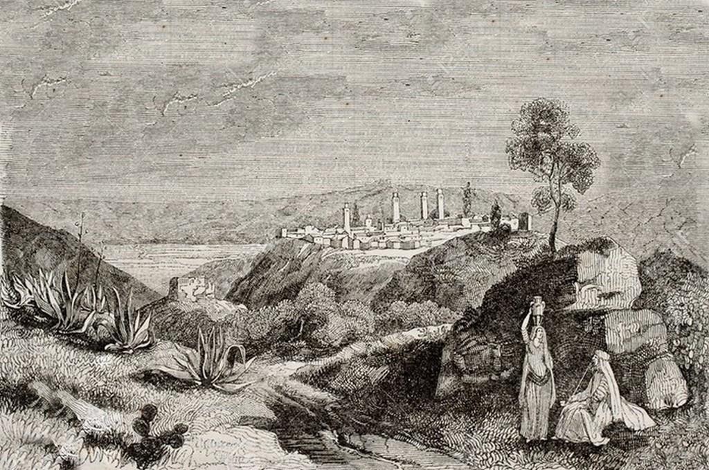 Milianah par un dessinateur anonyme en 1840 jpgg 2