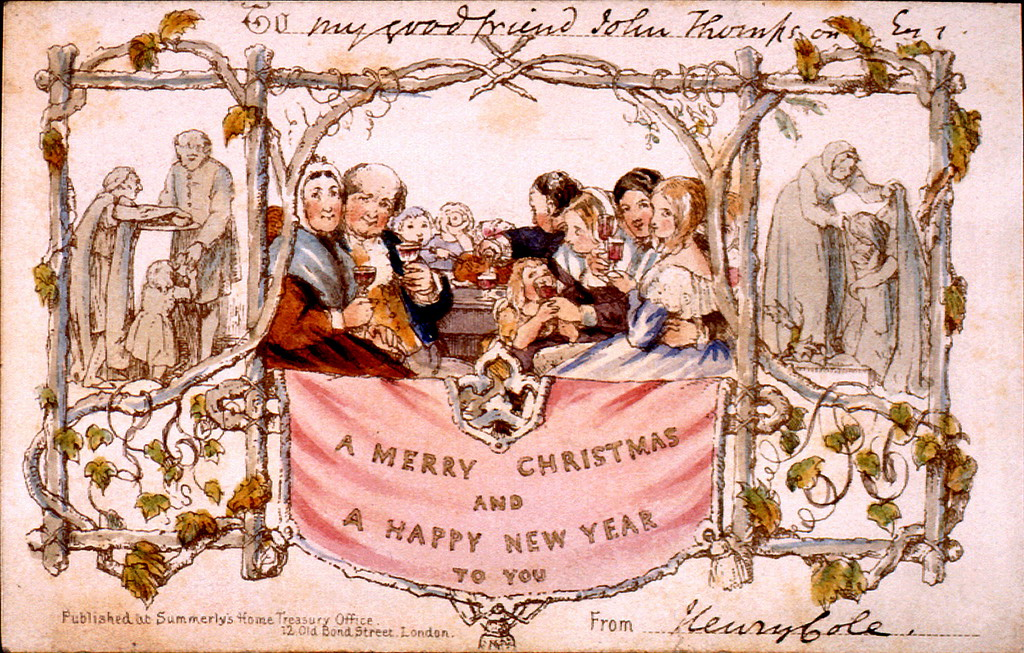 Oldest christmas card lg