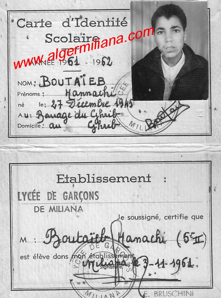 Photo carte d identit scolaire lyc e de gar ons miliana